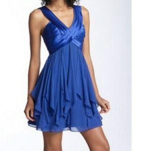 BCBG Blue Chiffon Silk Cocktail Dress